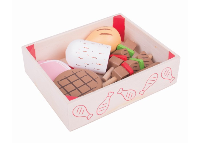 Bigjigs Toys Wooden Butcher's Crate