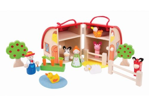 Bigjigs Toys Wooden Mini Farm Playset