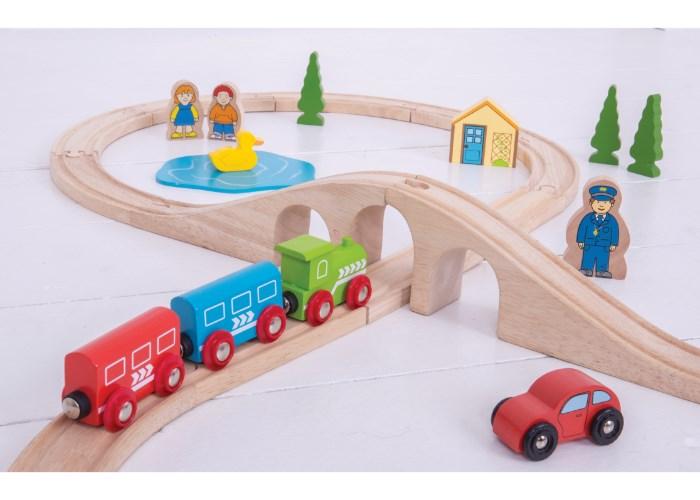 Bigjigs Rail Figure of Eight Train Set