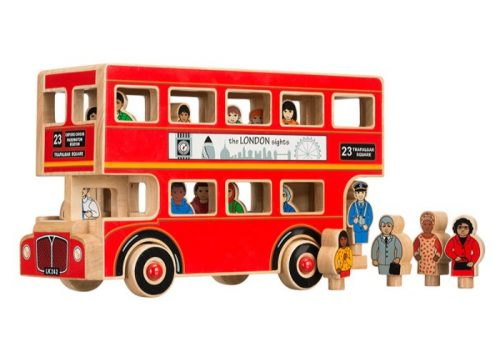 Lanka Kade Fair Trade Wooden Deluxe London Bus