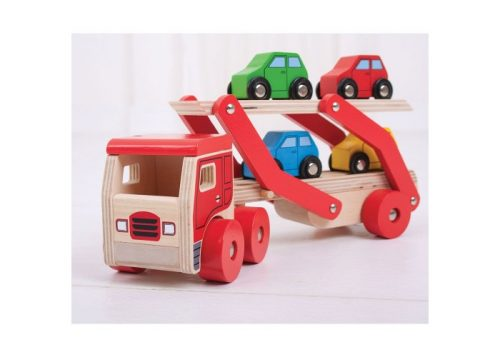 Bigjigs Toys Wooden Transporter Lorry