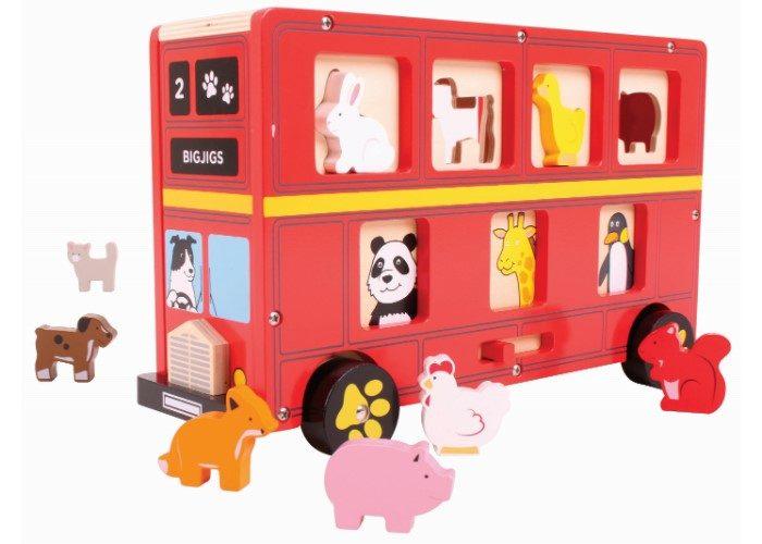 Bigjigs Toys Red Bus Shape Sorter