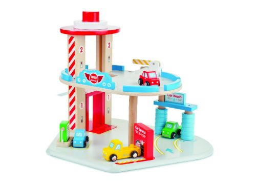 Tidlo Wooden Car Garage Set