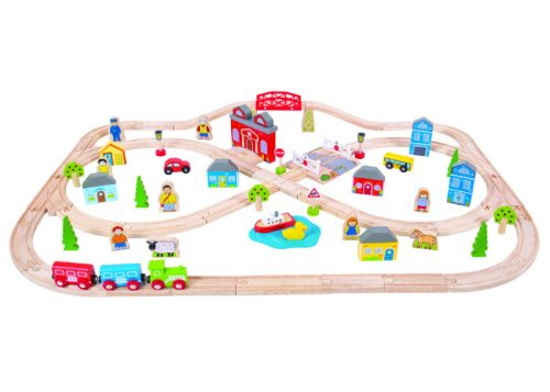 Bigjigs Rail Town and Country Train Set