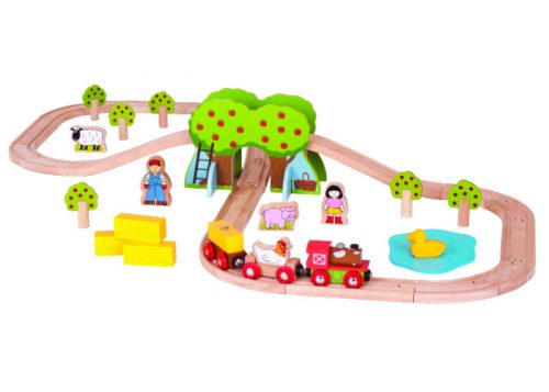 Bigjigs Rail Wooden Farm Train Set