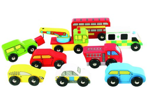 Bigjigs Rail Wooden Vehicle Pack