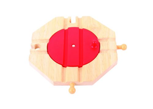 Bigjigs Rail Wooden Four Way Turntable