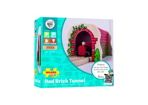 Bigjigs Rail Wooden Red Brick Tunnel