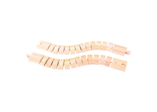 Bigjigs Rail Wooden Crazy Track 2 Pack