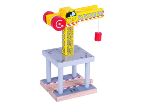 Bigjigs Rail Wooden Big Yellow Crane