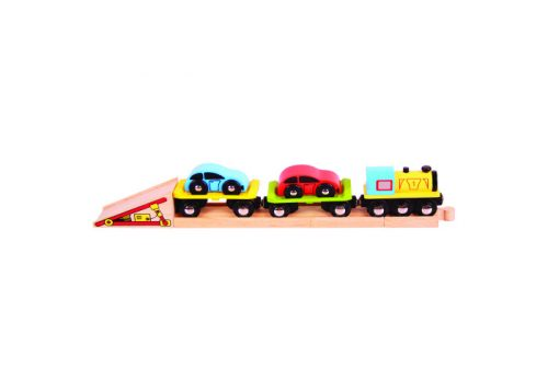 Bigjigs Rail Wooden Car Loader Train