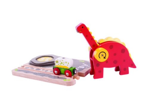 Bigjigs Rail Wooden Dino Crane