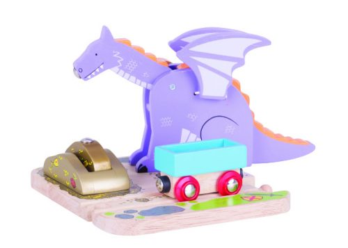 Bigjigs Rail Wooden Dragon Crane