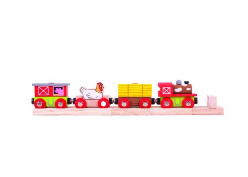 Bigjigs Rail Farmyard Wooden Train