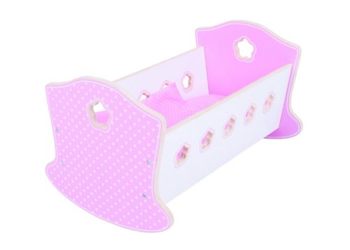 Bigjigs Toys Wooden Doll's Rocking Cradle