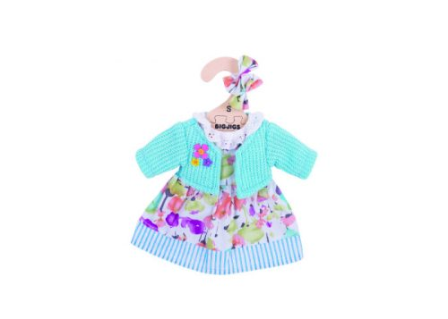 Bigjigs Toys Turquoise Cardigan and Dress