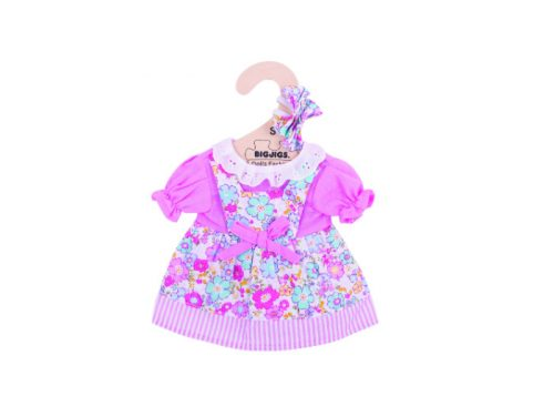 Bigjigs Toys Pink Floral Dress for 28cm Dolls