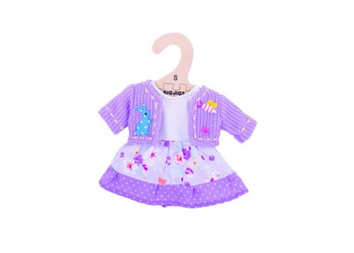 Bigjigs Toys Lilac Dress and Cardigan for 28cm Dolls