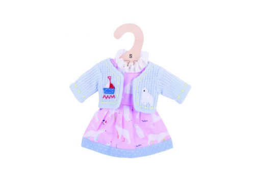Bigjigs Toys Polar Bear Pink Dress for 28cm Dolls