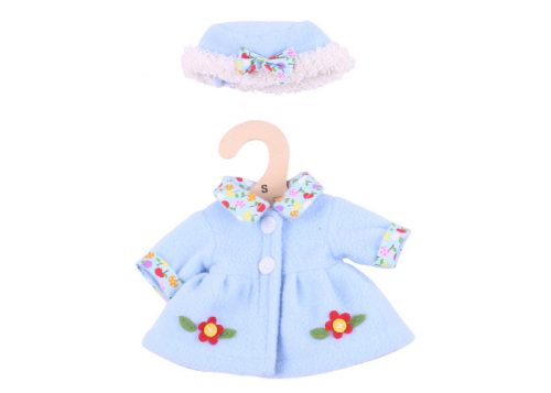 Bigjigs Toys Blue Hat and Coat for 28cm Dolls