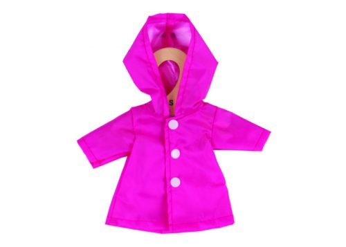 Bigjigs Toys Pink Raincoat for 28cm Dolls