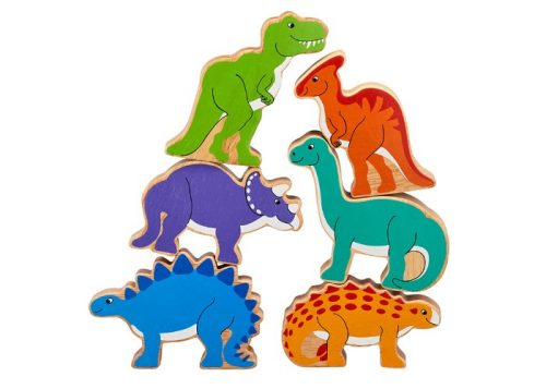 Lanka Kade Fair Trade Bag of 6 Wooden Dinosaurs