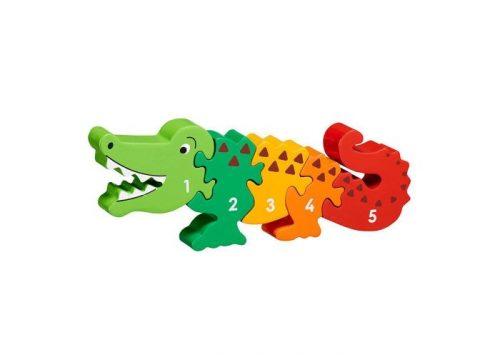 Lanka Kade Fair Trade Wooden Crocodile 1- 5 Puzzle