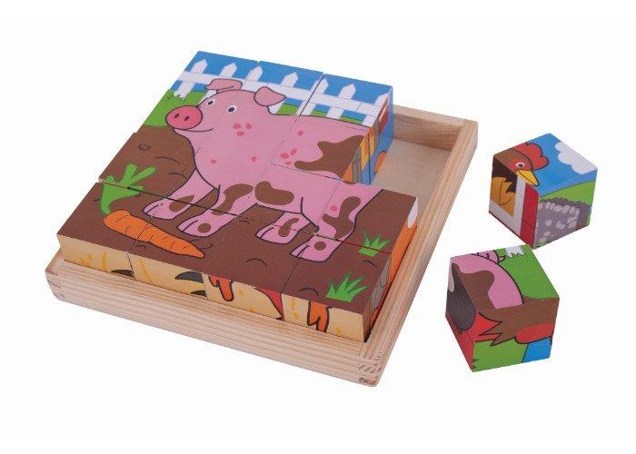 Bigjigs Toys Farm Cube Puzzle