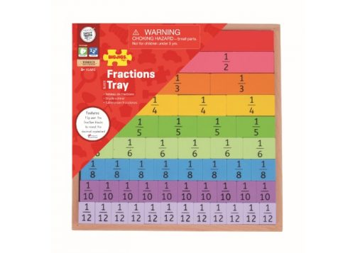 Bigjigs Toys Fractions Tray Educational Toy