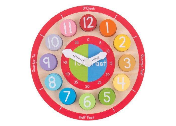 Bigjigs Toys Teaching Clock Educational Toy