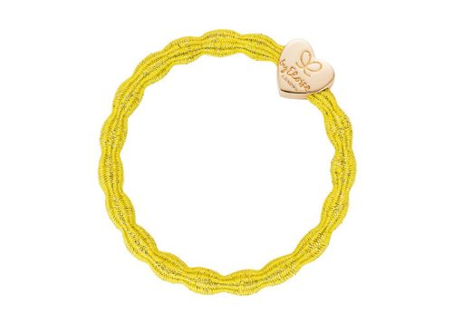 byEloise Bangle Band Metallic Gold Heart Yellow