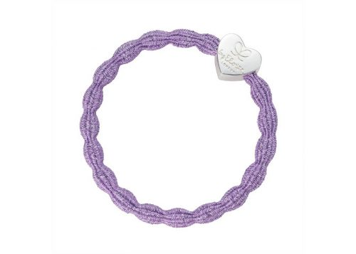 byEloise Bangle Band Metallic Silver Heart Lilac