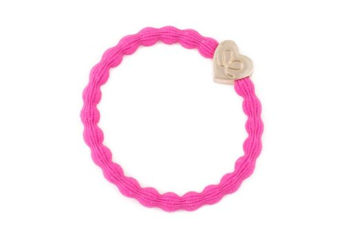byEloise Bangle Band Gold Heart Fuchsia