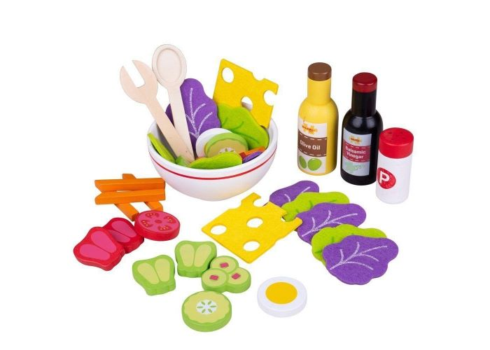 Bigigs Toys Wooden Salad Set
