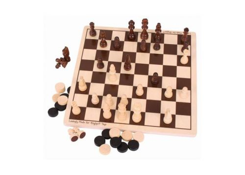Bigjigs Toys Draughts and Chess