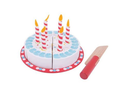 Bigjigs Toys Wooden Cutting Birthday Cake