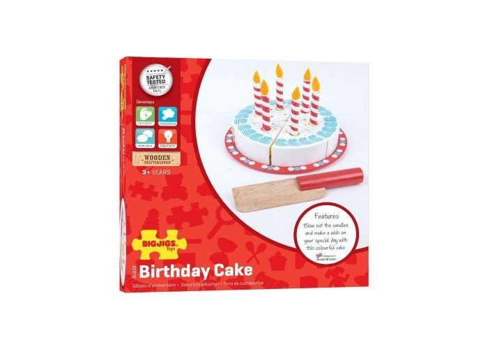 Pleasant Bigjigs Toys Wooden Cutting Birthday Cake The Olive Branch Funny Birthday Cards Online Sheoxdamsfinfo