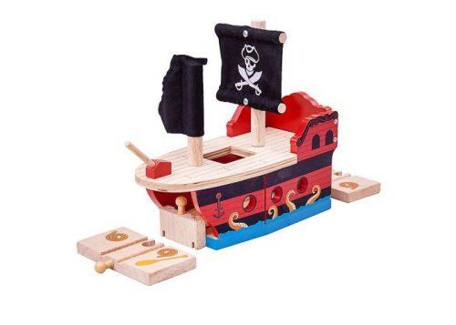 Bigjigs Rail Wooden Pirate Galleon