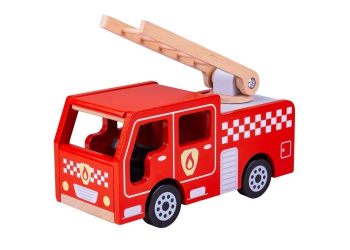 Bigjigs Toys Wooden City Fire Engine