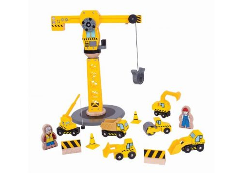 Bigjigs Rail Big Crane Construction Set