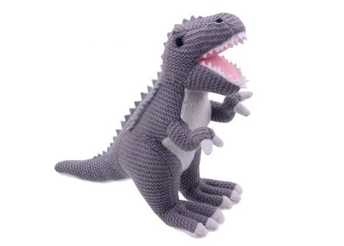 Wilberry Knitted Tyrannosaurus Rex Grey