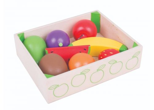 Bigjigs Toys Wooden Fruit Crate