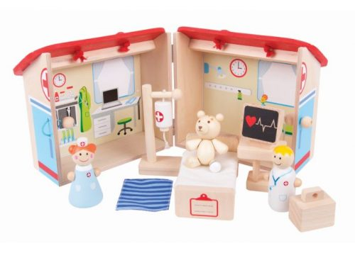 Bigjigs Toys Wooden Mini Hospital Playset
