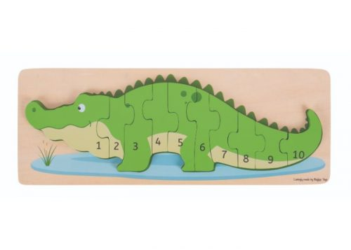Bigjigs Toys Crocodile Number Puzzle