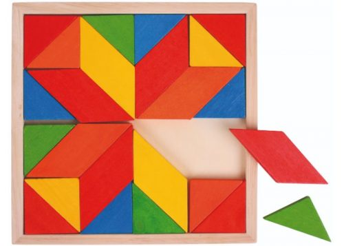 Bigjigs Toys Wooden Mosaic Tray