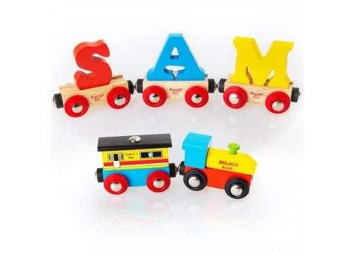 Bigjigs Rail Wooden Rail Name Letter Carriages