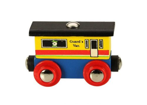 Bigjigs Rail Wooden Rail Name Guard's Van