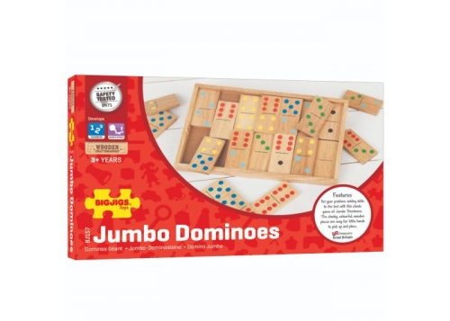Bigjigs Toys Wooden Jumbo Dominoes