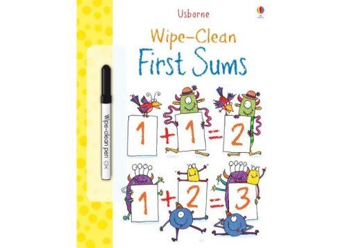 Usborne Wipe-Clean First Sums Book
