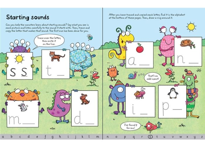 Usborne Wipe-Clean Ready for Reading Phonics Book